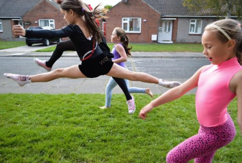 Dancing on Langley Road, Ashington, by Myrle Howard, 2014. © Ashington District Star / Myrle Howard