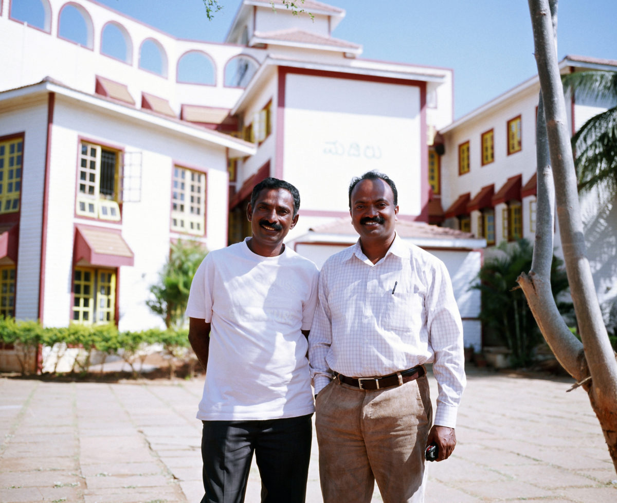 Former journalist Stanley KV and Parashu MV who run Odanadi